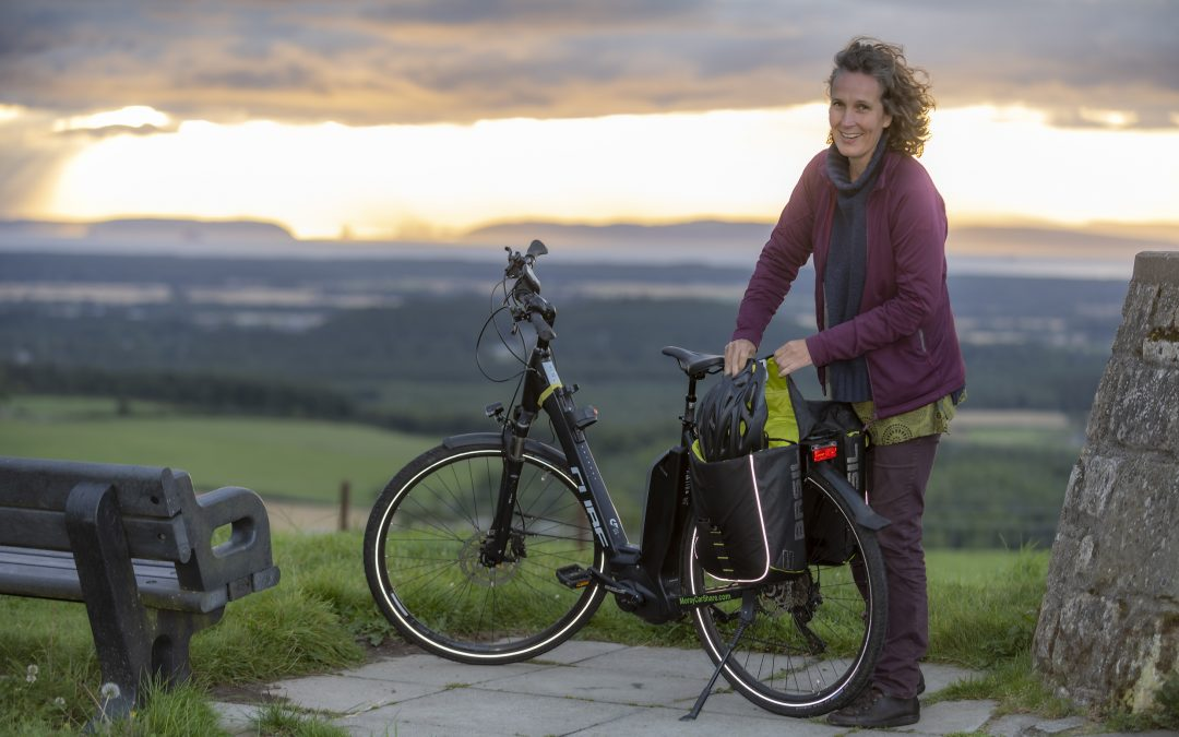 Self-service e-bikes at Findhorn Park Eco-village